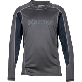 Marmot Windridge Pitkähihainen Pojat, slate grey/black